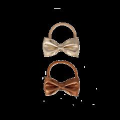 Your Little Miss Setje van 2 kleine elastiekjes met strik gold leather