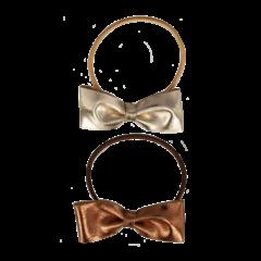 Your Little Miss Setje van 2 grote elastiekjes met strik  gold leather