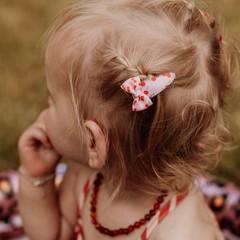 Your Little Miss Setje baby haarspeldjes met strik cherry