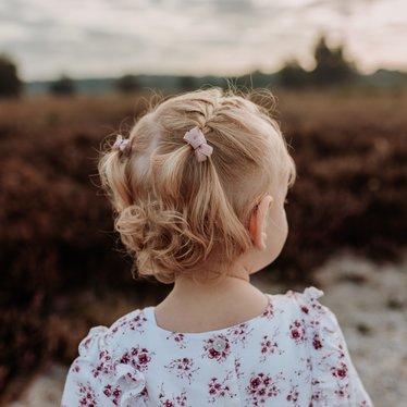 Your Little Miss Setje van 4 kleine elastiekjes beige tones