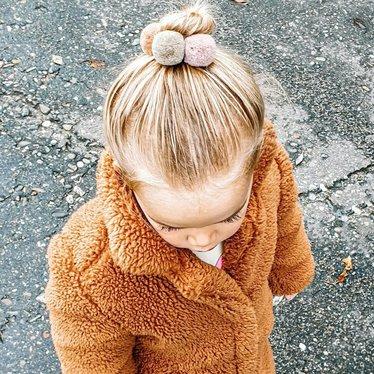 Your Little Miss Setje van 3 grote elastiekjes met pompom moss