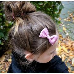 Your Little Miss Haarspeld met strik - pink leopard