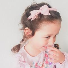 Your Little Miss Diadeem met strik - rose quartz