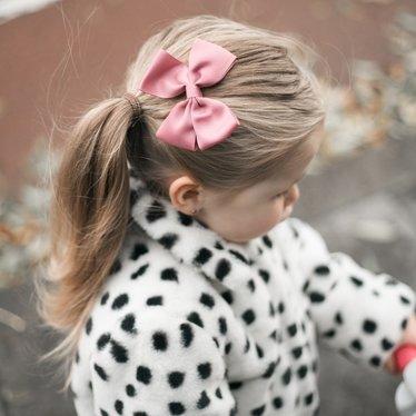 Your Little Miss Haarspeldje met strik large winter mauve