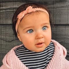 Your Little Miss Dusty rose newborn baby haarbandje kant met strik