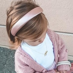 Your Little Miss Brede diadeem van satijn - pink satin