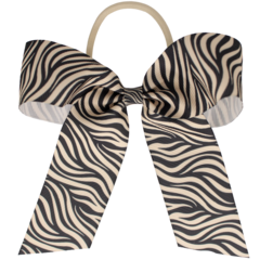 Your Little Miss Haarstrik met elastiek grey/white zebra