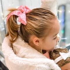 Your Little Miss Haarelastiek met grote strik - pink leopard