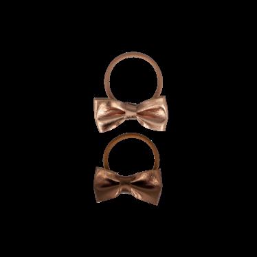 Your Little Miss Setje van 2 kleine elastiekjes met strik champagne leather