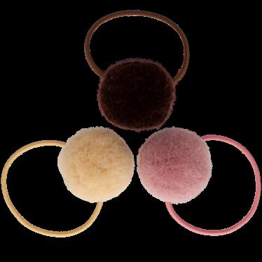 Your Little Miss Setje van 3 grote elastiekjes met pompom hot chocolate