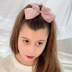 Your Little Miss Haarstrik met elastiek pink zebra