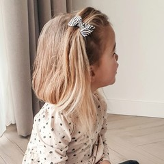 Your Little Miss Haarspeldje grey/white zebra