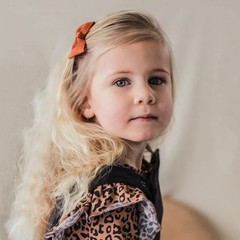 Your Little Miss Haarspeld met strik - copper