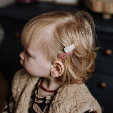 Your Little Miss Setje baby haarspeldjes teddy pink