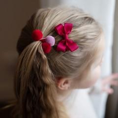 Your Little Miss Setje van 3 kleine elastiekjes met pompom beauty