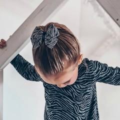 Your Little Miss Haarspeld met dubbele strik - zebra