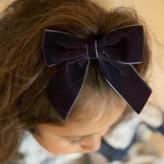 Your Little Miss Haarspeld met dubbele strik - ocean velvet