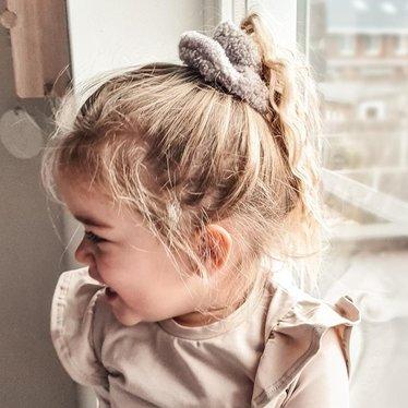 Your Little Miss Scrunchie teddy grey