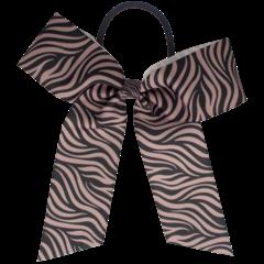 Your Little Miss Haarelastiek met grote strik - pink/grey zebra