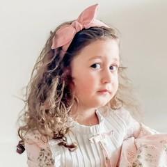Your Little Miss Haarband rib rosy quartz