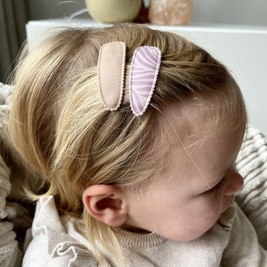 Your Little Miss Setje meisjes haarspeldjes pinkish zebra