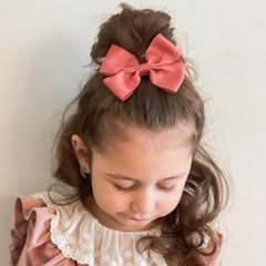 Your Little Miss Haarspeldje met strik large rosy mauve
