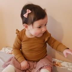 Your Little Miss Baby haarspeldje met strikje - antique mauve