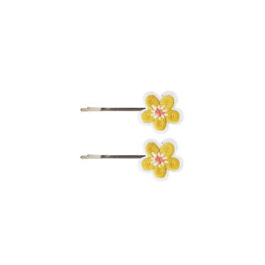 Global Affairs Setje schuifspeldjes flowers yellow