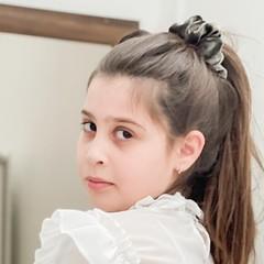 Your Little Miss Scrunchie - velvet silver