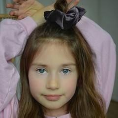 Your Little Miss Scrunchie - velvet soft black