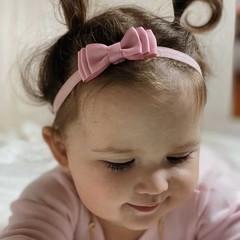 Your Little Miss Baby haarbandje met dubbele strik antique mauve