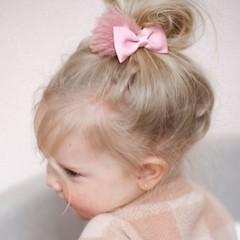 Your Little Miss Haarspeld met strik - rose quartz