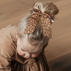 Your Little Miss Haarelastiek met grote strik - flower power