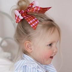 Your Little Miss Haarelastiek met grote strik - pretty check