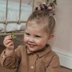 Your Little Miss Scrunchie - velvet winter mauve