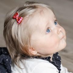 Your Little Miss Baby haarspeldje met strikje - pretty check