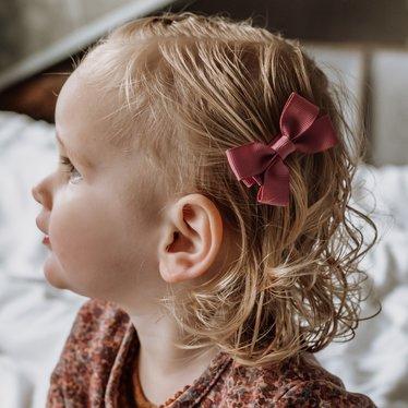Your Little Miss Haarspeldjes met strik medium winter mauve