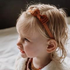 Your Little Miss Baby haarbandje met dubbele strik copper