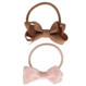 Your Little Miss Setje van 2 elastiekjes met strik powder pink