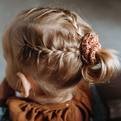 Your Little Miss Mini scrunchie gold animal