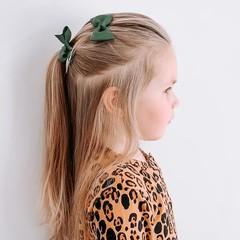 Your Little Miss Haarspeld met strik - dark green