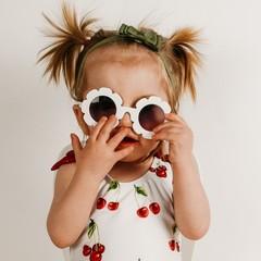 Your Little Miss Baby haarbandje met dubbele strik - moss