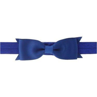 Your Little Miss Donkerblauw baby haarbandje met strik