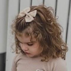 Your Little Miss Haarspeldje met strik large tan