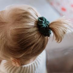 Your Little Miss Mini scrunchie dark green
