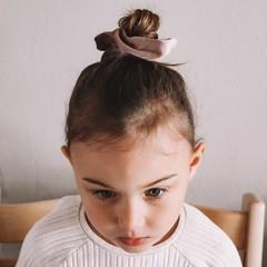 Your Little Miss Medium velvet scrunchie woods