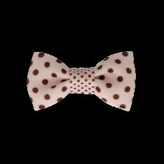 Your Little Miss Baby haarspeldje met strikje - pink dots