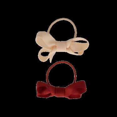 Your Little Miss Setje van 2 kleine elastiekjes met strik rust