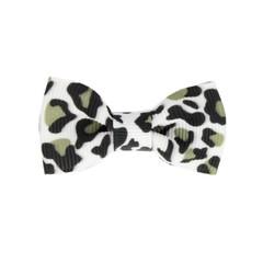 Your Little Miss Baby haarspeldje met strikje - leopard print black