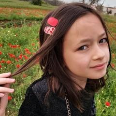 Your Little Miss Haarspelden met stof - girl flower